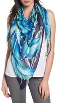 Echo Women's Palm Print Silk Triangle Scarf