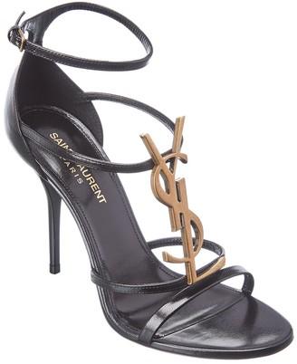 Saint Laurent Cassandra 100 Leather Sandal