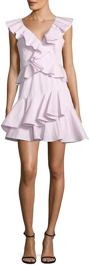 Rebecca Taylor Women's Ruffled Cotton Fit-&-Flare Dress