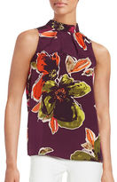 Trina Turk Floral-Print Silk Sleeveless Top