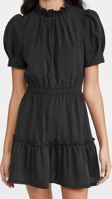 Alice + Olivia Vida Puff Sleeve Tiered Ruffle Dress