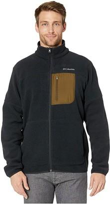Columbia Rugged Ridge Sherpa Fleece (Black/Olive Green) Men's Clothing
