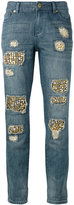 MICHAEL Michael Kors distressed embellished jeans - women - Cotton/Acrylic/Brass - 2