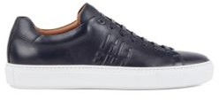 HUGO BOSS Italian-made trainers in calf leather with monogram detail