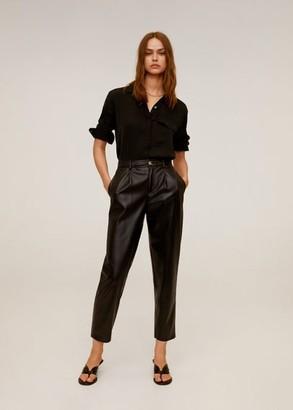 MANGO Flowy pocket blouse