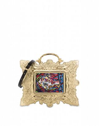 Moschino Frame Handbag Woman Black Size U It - (one Size Us)