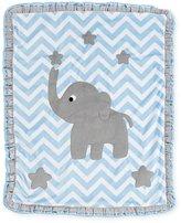 "Boogie Baby Big Foot"" Elephant Blanket, Blue"