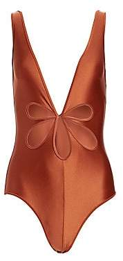 Zimmermann Women's Primrose Flower One-Piece Bikini