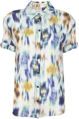 Baum und Pferdgarten Tie Dye Short Sleeve Shirt