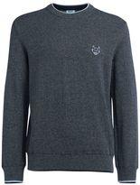 Kenzo Cotton Sweater In Melange Knit.