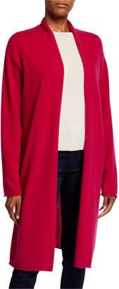 Neiman Marcus Plus Size Basic Cashmere Duster Cardigan