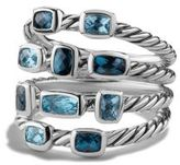 David Yurman Confetti Ring With Blue Topaz And Hampton Blue Topaz