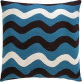 Judy Ross - Tropical Blue/Chocolate/Cream Ricrak Pillow
