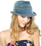 NYfashion101 Women's Solid Color Band Multicolor Weaved Trilby Fedora Hat