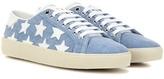Saint Laurent Court Classic Sl/6 Denim Sneakers