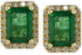 Effy Brasilica by Emerald (1-9/10 ct. t.w.) and Diamond (1/4 ct. t.w.) Stud Earrings in 14k Gold