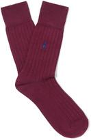 Polo Ralph Lauren - Ribbed Stretch Cotton-blend Socks
