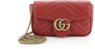 Gucci GG Marmont Flap Bag Matelasse Leather Super Mini