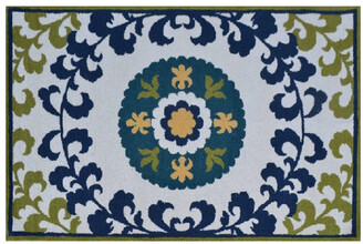 The Rug Market Suzani Oasis Hand-Made Wool Contemporary Rug