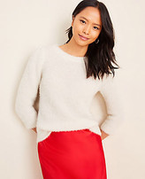 Ann Taylor Textured Puff Sleeve Sweater