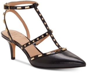INC International Concepts Inc Carma Pointed Toe Studded Kitten Heel Pumps, Created for Macy's Women's Shoes