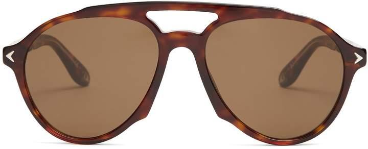 Givenchy Aviator-frame acetate sunglasses