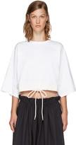 Chloé White Drawstring Cropped T-Shirt