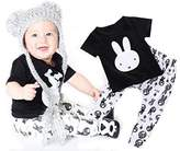EGELEXY Newborn Summer Baby Boy Rabbit T-Shirts Tops + Pants 2pcs Set Clothing Set
