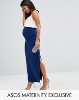 Asos Over The Bump Maxi Skirt with Split