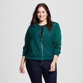 Merona Women's Plus Size Eyelet Bomber Jacket