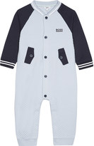 BOSS Embroidered logo waffle finish cotton-blend baby-grow 1-12 months