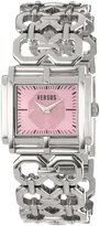 Versus By Versace Women's SGE010012 Moda Stainless Steel Rectangular Pink Dial Watch
