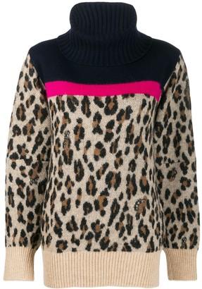 Sacai leopard knit jumper