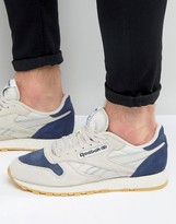Reebok Classic Leather Speckle Trainers In Beige Aq9773