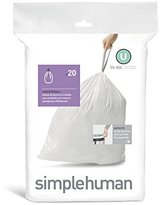 Simplehuman Code U, Custom Fit Bin Liners, 20 Pack - 55 Litre