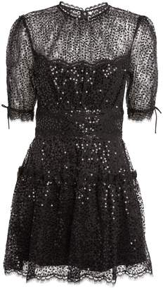 Jonathan Simkhai Lace-Trim Sequin Dress