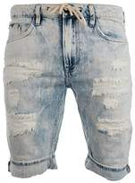 Buffalo David Bitton Men's Parker Slim Fit Fashion Denim Short Wash
