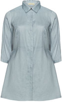 Isolde Roth Plus Size Cotton-linen blend flared shirt