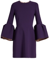 Roksanda Hadari bell-sleeved mini dress