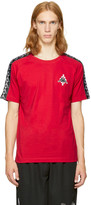 Marcelo Burlon County of Milan Red Kappa Edition Long Sleeve T-shirt