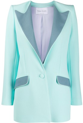 Hebe Studio Vivisa colour block blazer