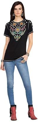 Double D Ranchwear Bobcat Boogie Tee (Black) Women's Clothing