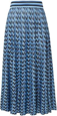 Rixo Brandy Houndstooth Knitted Midi Skirt