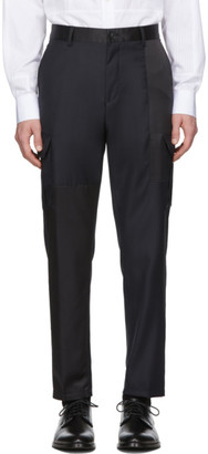 Tiger of Sweden Black and Navy Wool Clone PW Trousers