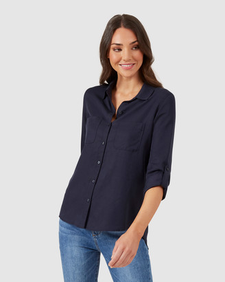 French Connection Women's Shirts & Blouses - Neo Button Through Shirt - Size One Size, 8 at The Iconic