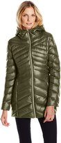 Jessica Simpson Outerwear Women's Chevron Packable Down Jacket