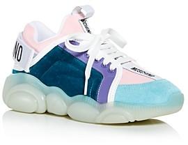 Moschino Women's Mixed Media Low Top Sneakers