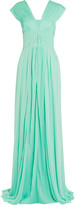 Vionnet Pleated stretch-jersey gown