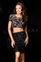 Scala 25411 Dress In Black Multi-Color
