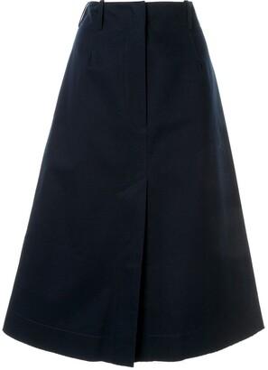 Cédric Charlier Front Slit Skirt